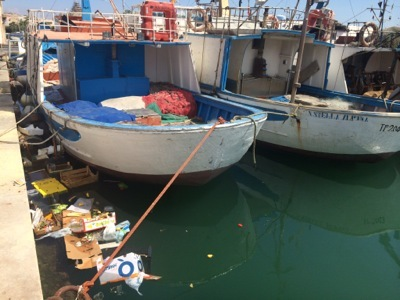 Fish dock in Trapani