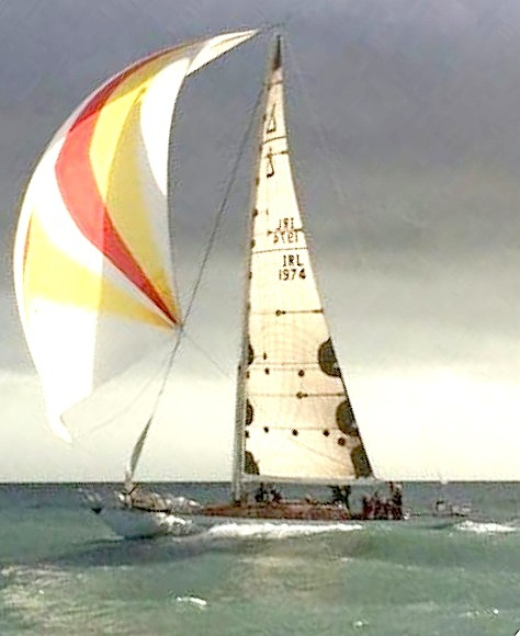 Stephen O'Flahery's Spirit 54 'Soufriere' powers downwind on Saturday