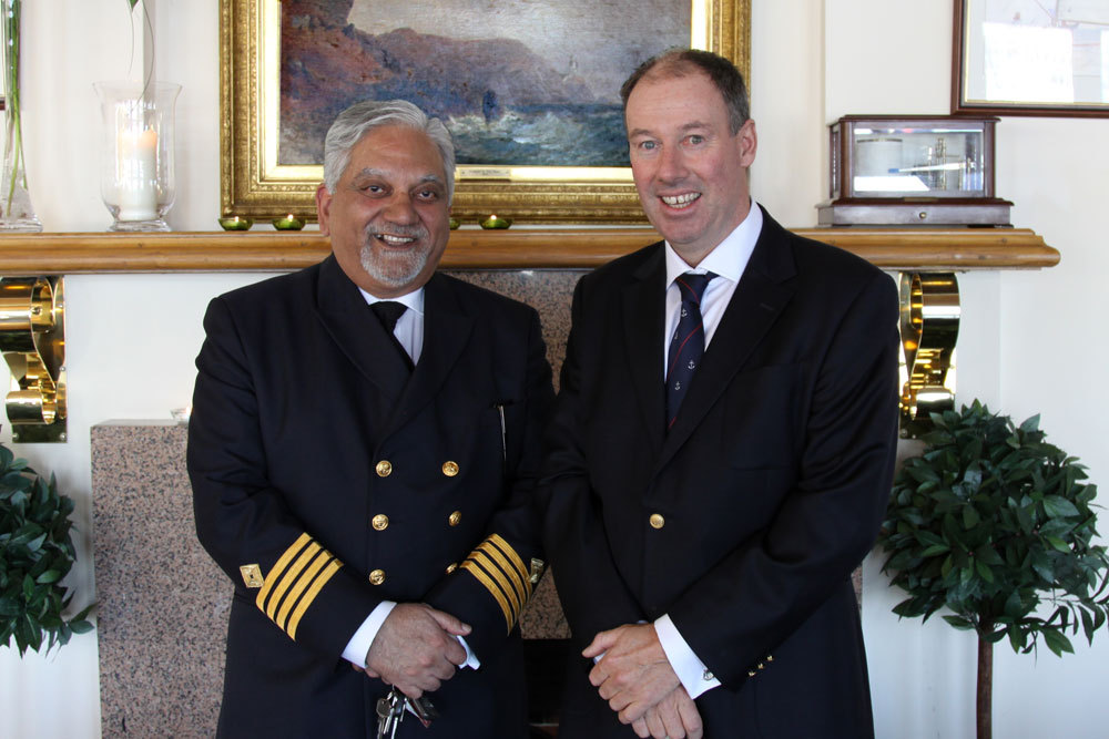 Harbourmaster Captain Raja Maitra with Commodore Brian Turvey