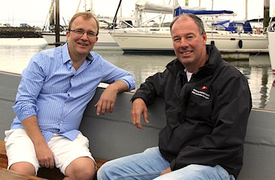 Davy's Graham Cawley in conversation with HYC Commodore Brian Turvey