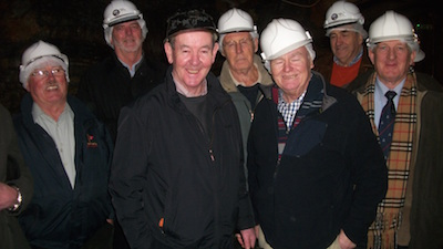 IN the mine with guide Morris Cullen