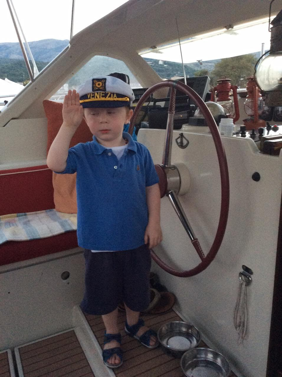 Grandson Leo at the wheel