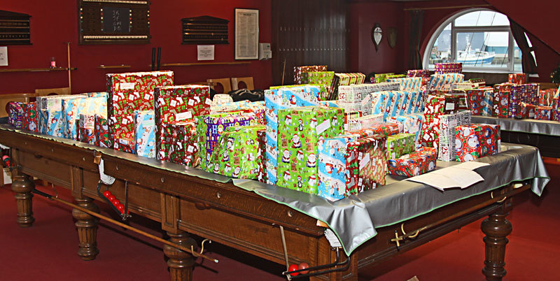 Some of Santa's fantastic presents waiting to be given out