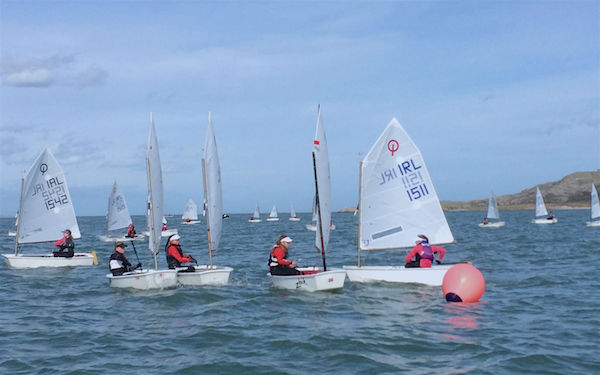 'Girl Power!' Five girls reach the top mark at the front of the fleet