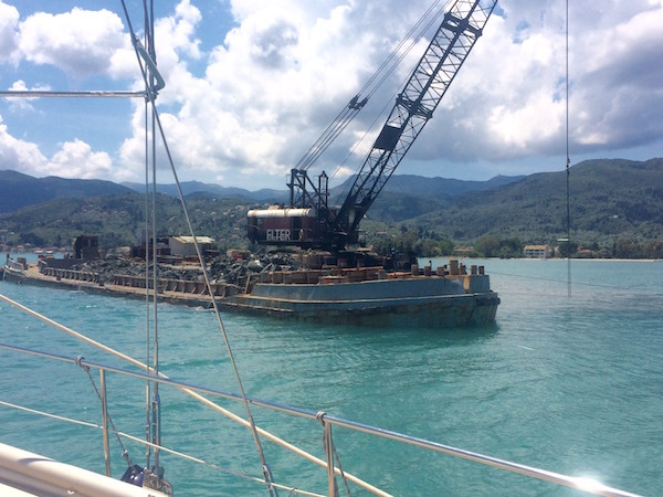 Dredging the Lefkas Canal