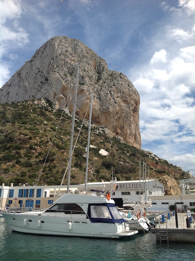 Calpe - sometimes known as 'little Gibraltar'
