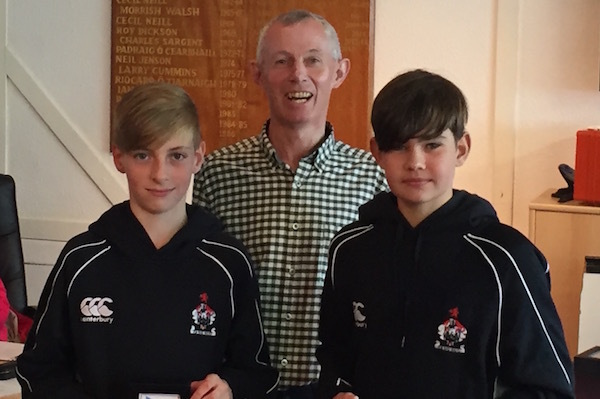 Hugh Turvey and Dylan McEvoy with Jim Lambkin