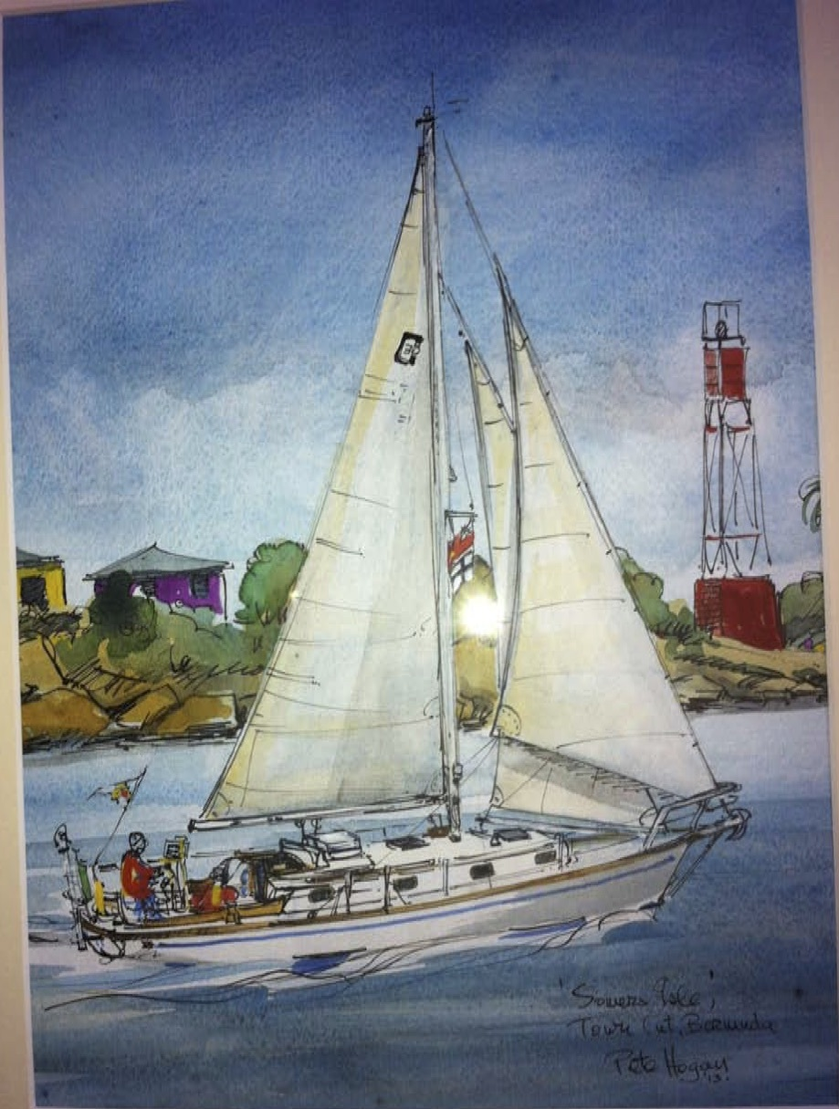 A momento from sailor and artist Pete Hogan