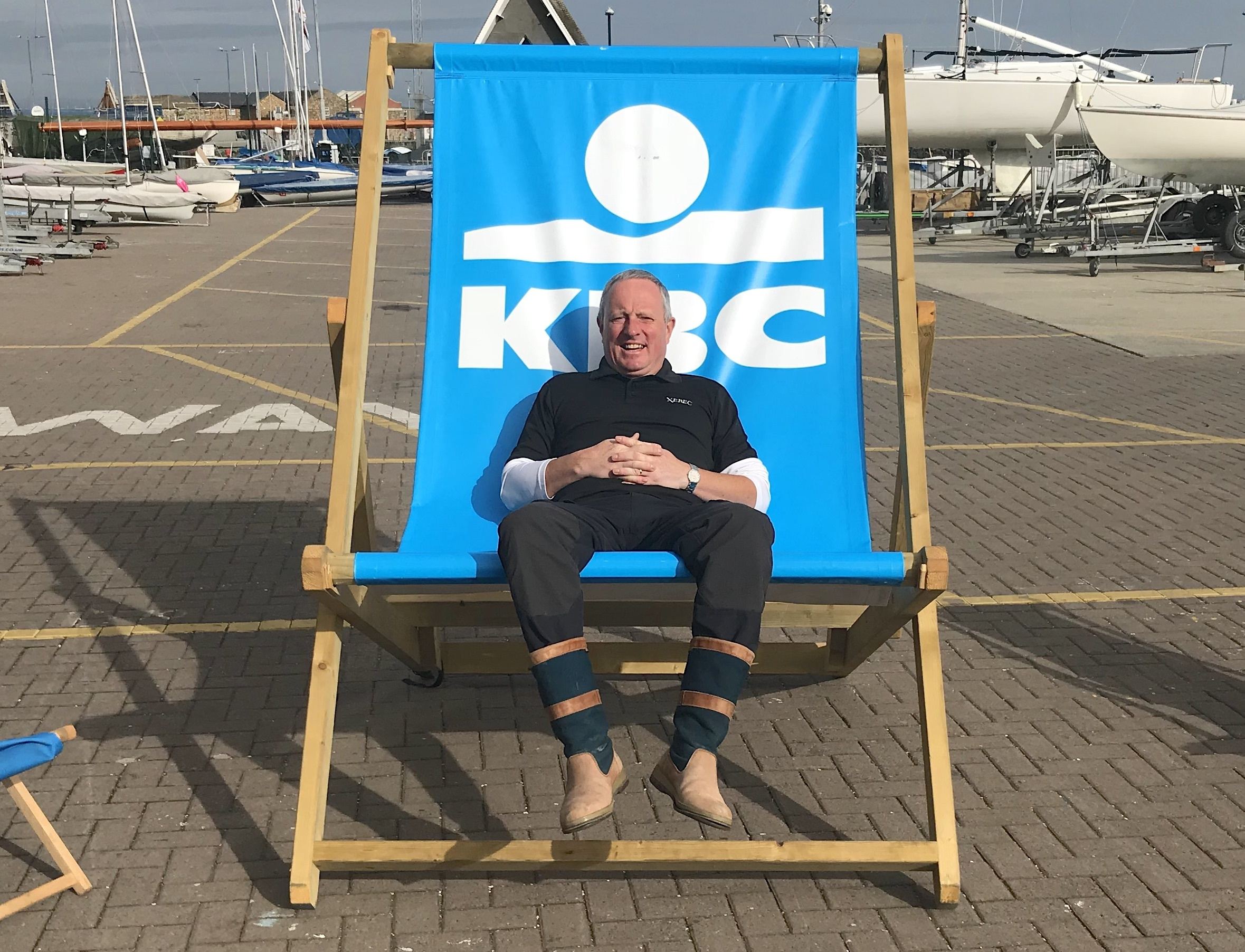 Event 'chair'man Eddie Bourke take an uncharacteristic rest...