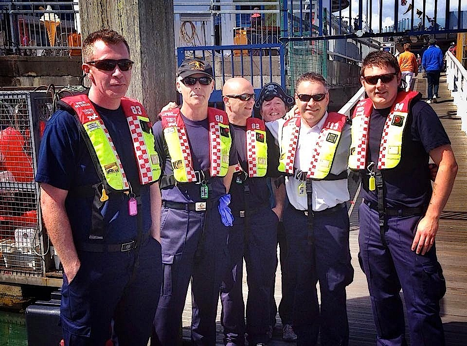 Members of Dublin Fire Brigade, 'photobombed' by Scorie Walls!