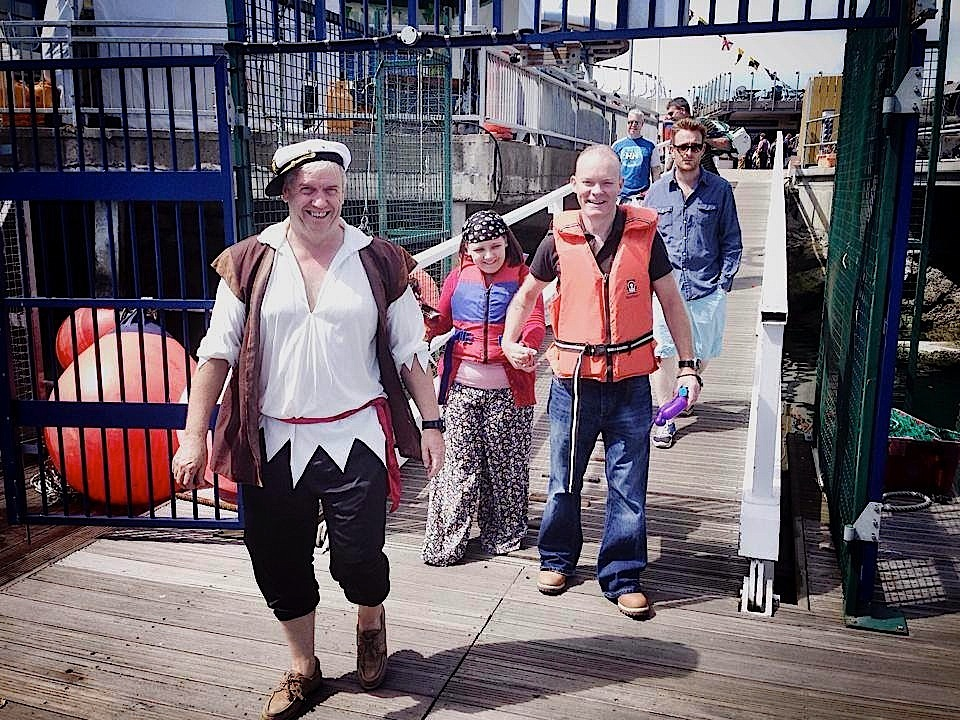 Colm Bermingham leads his pirates to their awaiting ship