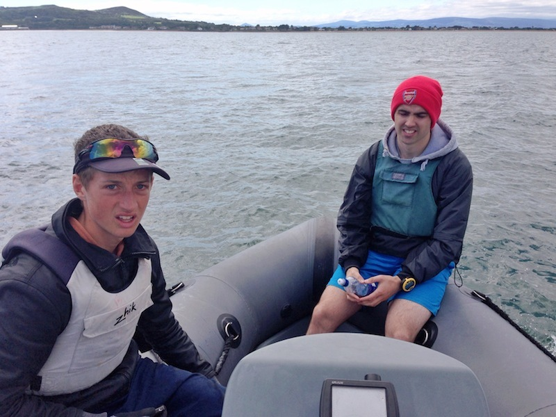 An on-the-water protest meeting with Ewan McMahon and Ronan Cull