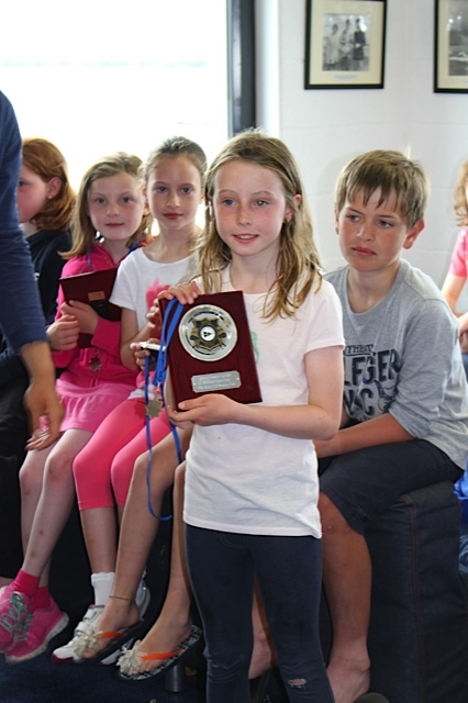 Sarah Evans - best Under 11 - Crosbie Cup