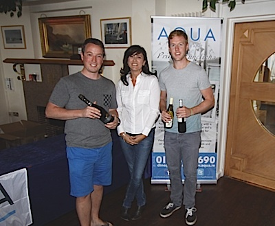 The 'Equinox team' of Ross McDonald and Simon Rattigan accept their prizes