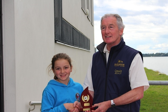 Optimist Silver Fleet winner and 2nd place overall - Ruth Lacy