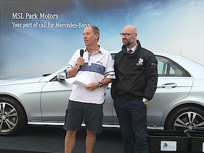 The daily prize giving was done by Commodore Brian Turvey and MSL Park Motors' Patrick Manning