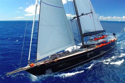 Lynn Reilly enjoys St Barth's Bucket Regatta in style