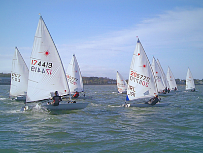 Big fleet enjoys first races of Laser Frostbite series