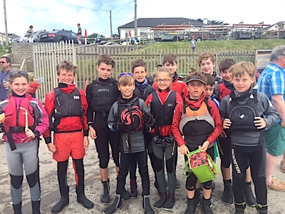 Optimist sailors at Crosbie Cup