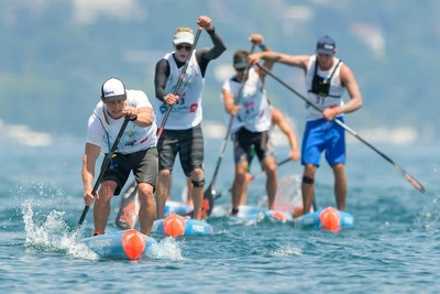 Adult's Challenge Paddleboard Relay Race