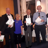 Group receiving their certs from the defibrillator training course.jpg