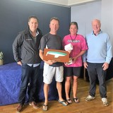 2018 Squib Easterns Champions, Colm Dunne & Fiona Ward (KYC)with Gary Cullen (Provident CRM) and Rear Commodore Paddy Judge