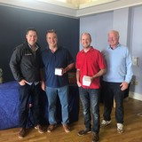 2018 Squib Easterns 3rd Overall - Peter Wallace & Martin Weatherstone (RNIYC) with Gary Cullen (Provident CRM) and Rear Commodore Paddy Judge