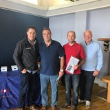 2018 Squib Easterns Race 3 winners - Peter Wallace & Martin Weatherstone(RNIYC) with Gary Cullen (Provident CRM) and Rear Commodore Paddy Judge