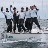 Tim Healy and his crew celebrate winning the world championship.