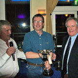 Kevin O'Byrne (Mary Ellen) collecting the 'Skehan Cup' from Dermot Skehan and Commodore Berchmans Gannon