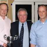 Michael and Ritchie Evans (The Big Picture) with the Guinness Cup and Commodore Berchmans Gannon