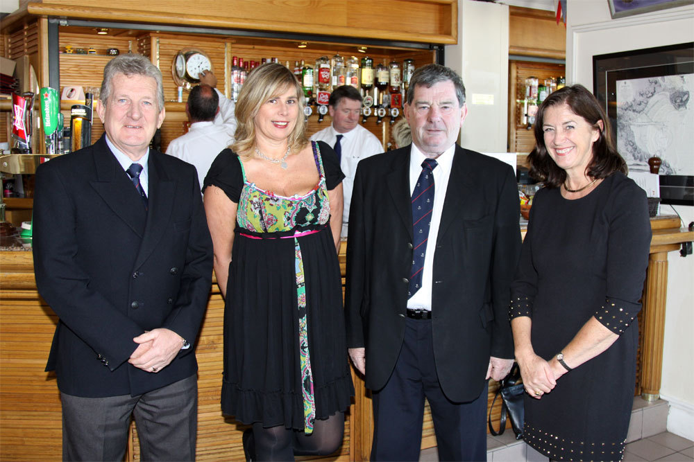 Michael Murphy (Chairman HYC Development Committee), Lisa Turvey, John Doran (Chairman Club Vessels Committee) and Mary Gillick (HYC Junior Organiser)