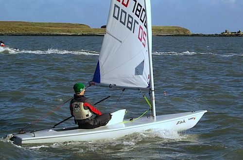 Ewan McMahon on the downwind leg