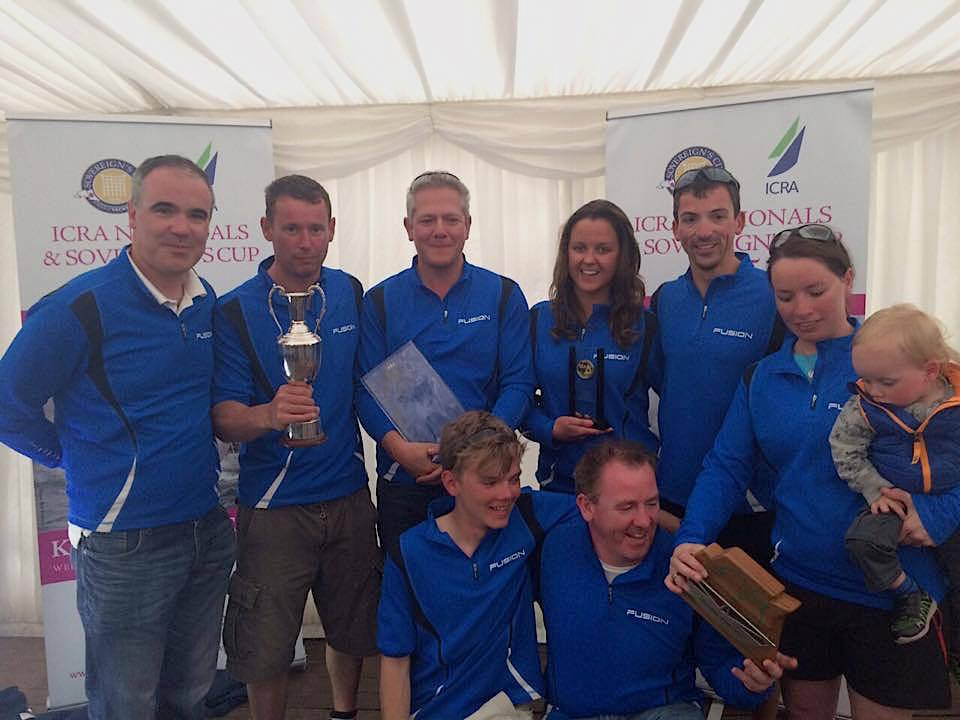Ronan and Richard with the 'Fusion team - winners of Class 3