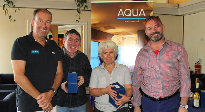 The Commodore with Tantrum 3's Jenny & Niall O'Leary with sponsor Dave Murnane