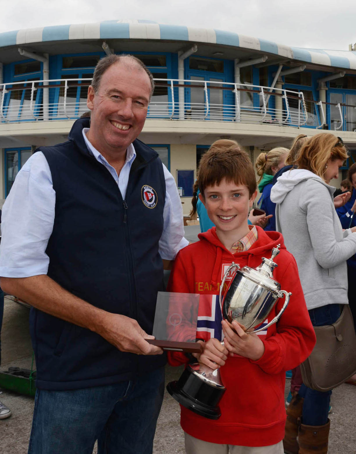 RCYC's Cathal O'Regan with the Senior Gold Fleet Trophy