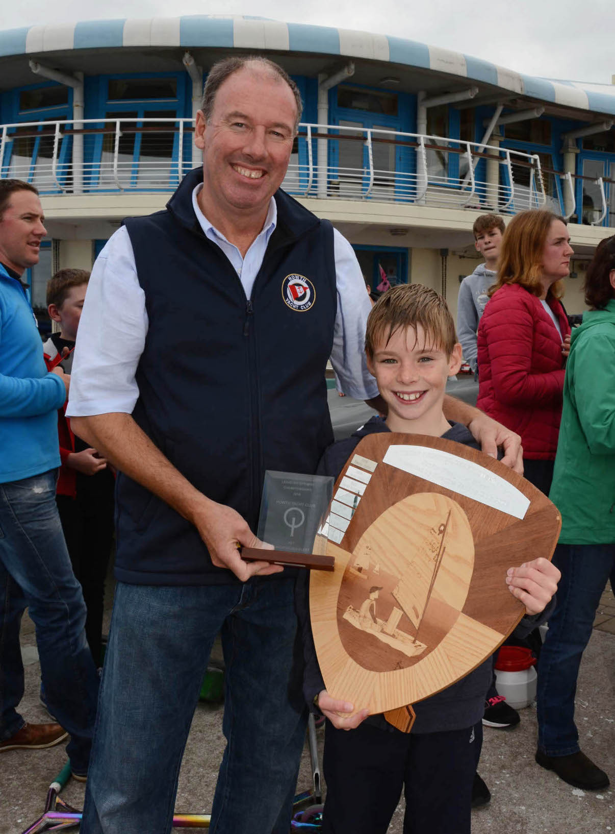 Luke Turvey with the trophy for 1st in Junior Silver Fleet