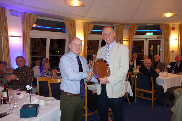 The 'Howth to Howth Plate' was awarded to 'Taurus' and Mike Medcalf (by Vice Commodore Emmet Dalton) for his log of the cruise circumnavigating the UK