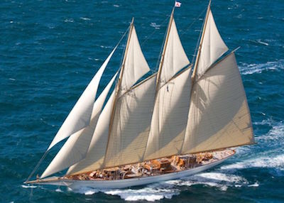 The 215ft schooner 'Adix'
