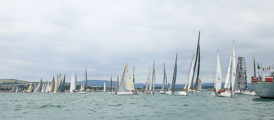 Euro Car Parks on port tack and caught OCS on the start line