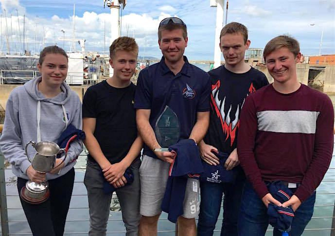 4th overall and Silver Fleet winners - The 'Johnny Bravo' K25 team: Medb, Douglas, Thomas, Ciaran and Diarmuid