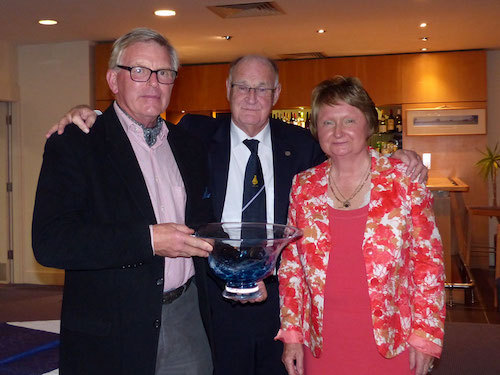 Roddy Cooper, President Bryan Lynch and Louise Lynch