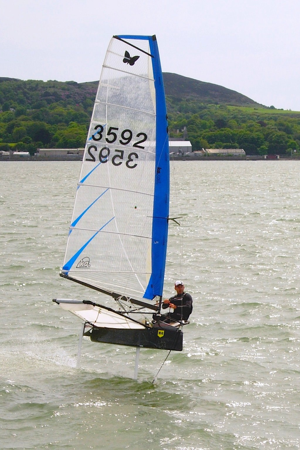 Rory Fitzpatrick shows how to 'foil' in front of Howth Pier