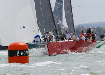 Ross McDonald and Dylan Gannon in Cowes for RORC Easter Challenge