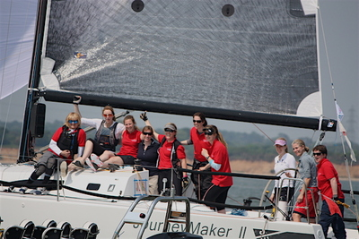 Laura Dillon wins UK Womens' Keelboat Championship