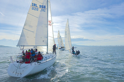 Brass Monkey competitors get a taste of winter sailing