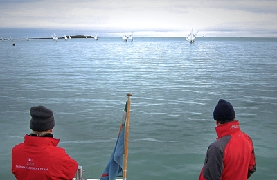 Fickle winds challenge Laser sailors as Frostbites recommence