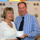 Sandra Stirling (Brazen Hussy) with Commodore Brian Turvey