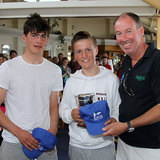 Peadar Lawlor and Jamie McMahon with Commodore Brian Turvey